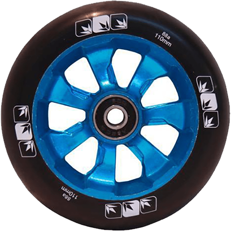 Blunt 7 Spoke 110mm Metal Core Wheel - Blue / Black